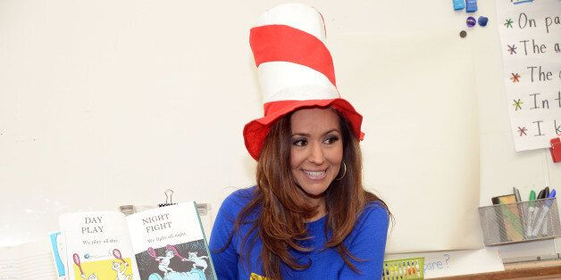 LOS ANGELES, CA - MARCH 03:  KNBC newscaster Annette Arreola reads to students for SAG-AFTRA Foundation BookPALS celebrate Read Across America  on March 3, 2016 in Los Angeles, California.  (Photo by Angela Weiss/Getty Images for SAG-AFTRA Foundation)