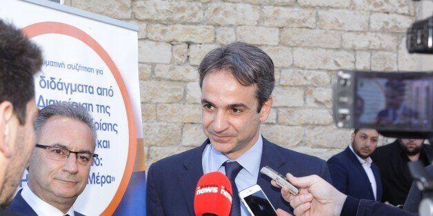 Το ταξίδι-αστραπή στην Κύπρο του Μητσοτάκη: Μίλησε για τα Μνημόνια Ελλάδας και Κύπρου σε εκδήλωση του