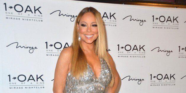 LAS VEGAS, NV - FEBRUARY 21: Singer/songwriter Mariah Carey arrives at 1 OAK Nightclub at the Mirage...