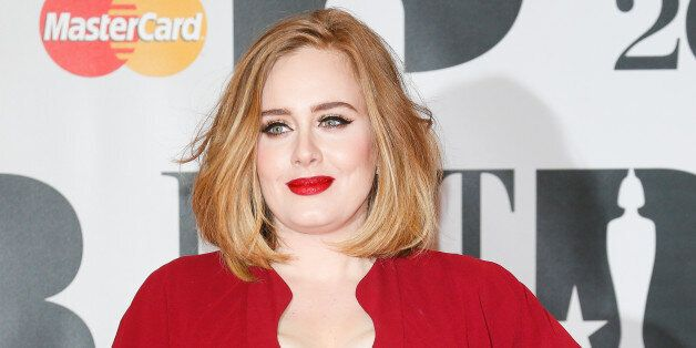 LONDON, ENGLAND - FEBRUARY 24: Adele attends the BRIT Awards 2016 at The O2 Arena on February 24, 2016...