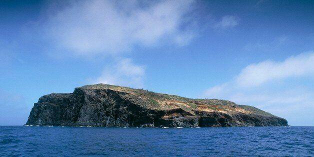 ITALY - SEPTEMBER 08: Santo Stefano Island seen from the sea, Pontine Islands, Lazio, Italy. (Photo by...