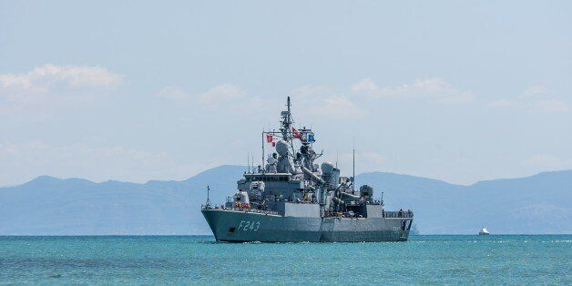 TUNIS, TUNISIA - AUGUST 21: Turkish frigate Yildirim, the flagship of Standing NATO Maritime Group-2...