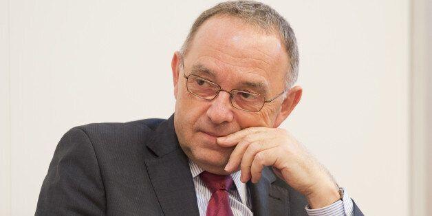 Berlin, Germany - October 09: Finance Minister of German state of North-Rhine-Westfalia, Norbert Walter-Borjans,...