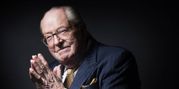 France's far-right Front National (FN) party founder Jean-Marie Le Pen poses in Saint-Cloud, west of...