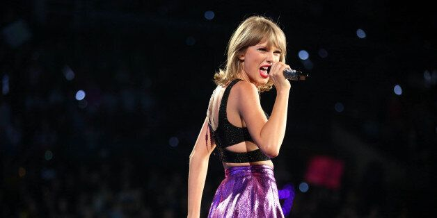 FILE - In this Aug. 22, 2015 file photo, Taylor Swift performs during the
