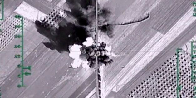 In this photo made from the footage taken from Russian Defense Ministry official web site on Monday,...