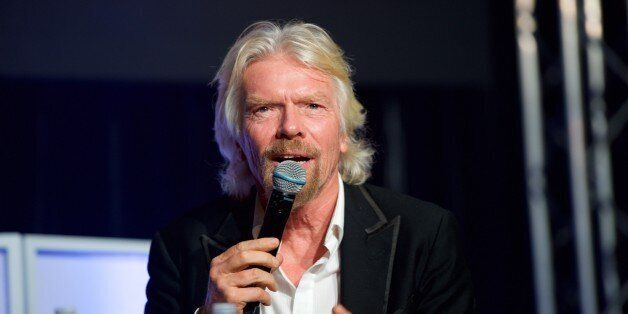 LOS ANGELES, CA - FEBRUARY 15: Sir Richard Branson speaks at the City Gala Fundraiser 2016 at The Playboy...