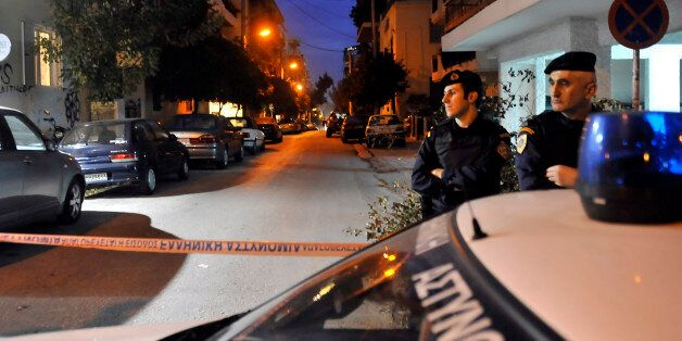 Greek police investigate after anti-terrorist police arrested four men and detained several other suspects...