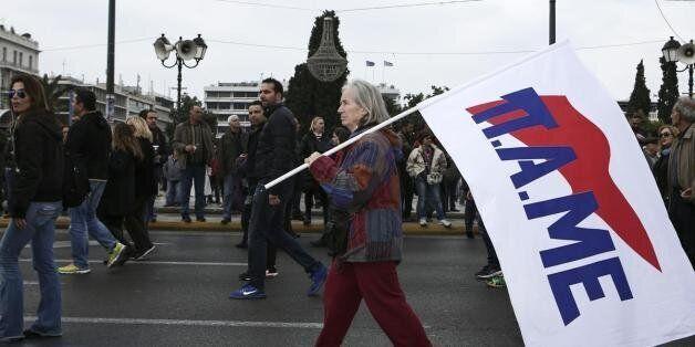 Πορεία του ΠΑΜΕ προς τη Βουλή - Κουτσούμπας:Το μήνυμα είναι ένα: Εργατιά-Αγροτιά μια
