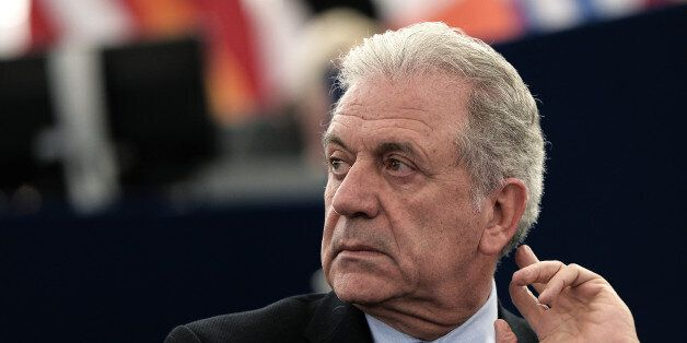 EU Commissioner for Migration Dimitris Avramopoulos attends a debate on migration at the European Parliament...