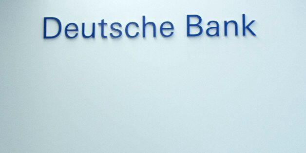 Deutsche Bank new co-CEO John Cryan leaves a news conference in Frankfurt, Germany, Thursday, Oct. 29,...