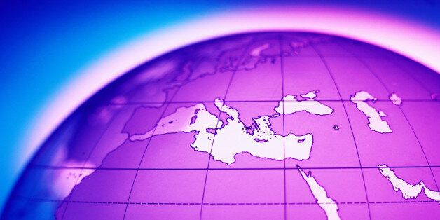 Europe and North Africa on Transparent