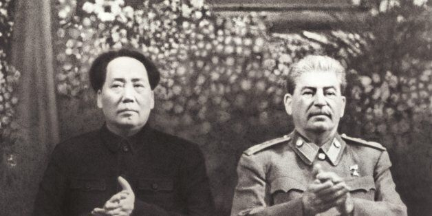 BEIJING, CHINA - DECEMBER, 1949: (CHINA OUT) Chairman Mao Zedong meets with Joseph Vissarrionovich Stalin...