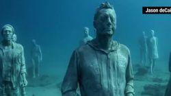 Απόκοσμες φιγούρες εμφανίζονται από τα βάθη του ωκεανού και «παγώνουν« το