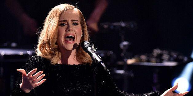 COLOGNE, GERMANY - DECEMBER 06: Adele attends the television show 2015! Menschen, Bilder, Emotionen -...