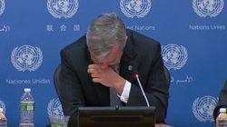 Στέλεχος του ΟΗΕ δακρύζει όταν ανακοινώνει την εμπλοκή κυανόκρανων σε νέες υποθέσεις παιδικής