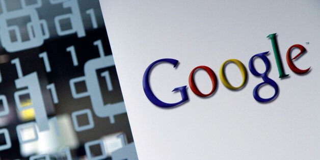 FILE - In this March 23, 2010, file photo, the Google logo is seen at the Google headquarters in Brussels....