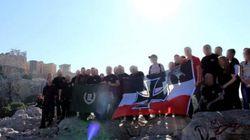 Με σημαία του Γ΄Ράιχ στην Ακρόπολη τα μέλη νεοναζιστικής οργάνωσης που φιλοξένησε στην Αθήνα η Χρυσή