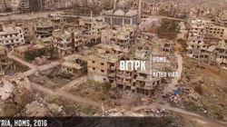 Drone καταγράφει την καταστροφή του πολέμου στην πόλη