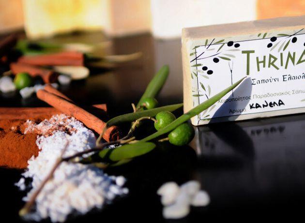 Κτήμα Θρίναξ: Χειροποίητα σαπούνια από αγνό ελαιόλαδο φτιαγμένα με την συνταγή του