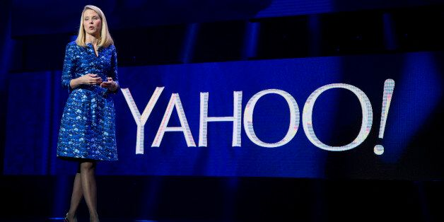 FILE - In this Jan. 7, 2014, file photo, Yahoo president and CEO Marissa Mayer speaks during the International...