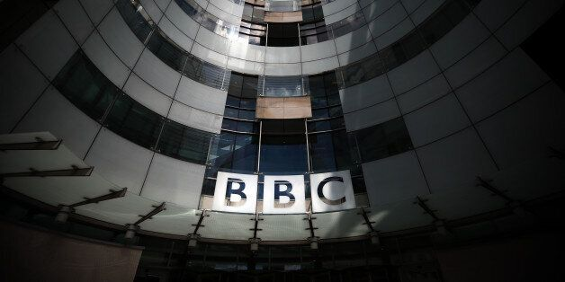 LONDON, ENGLAND - JULY 25: The logo for the Broadcasting House, the headquarters of the BBC is displayed...