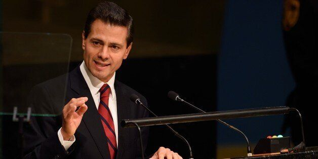 President of Mexico Enrique Peña Nieto addresses the 70th session of the United Nations General Assembly...
