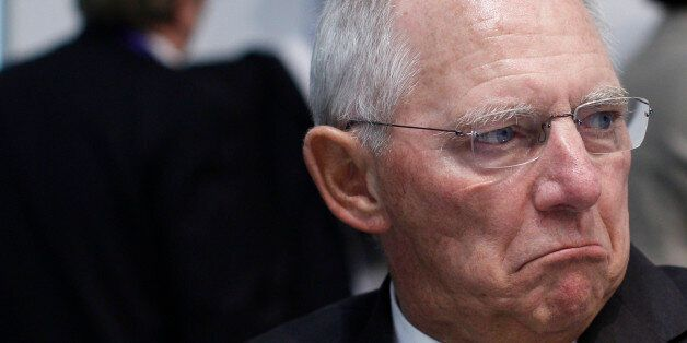 Germany's Minister of Finance Wolfgang Schauble attends in the Informal Meeting of Ministers for Economic...