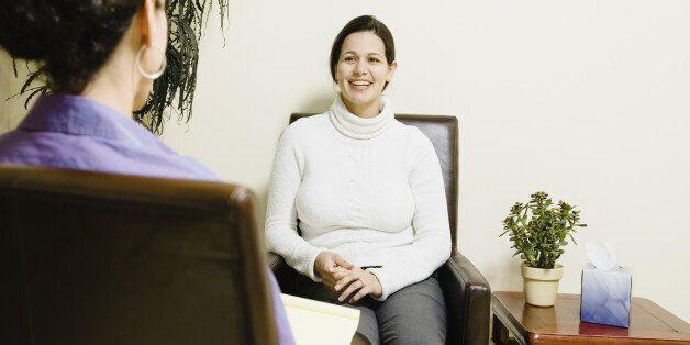 Hispanic woman at therapy