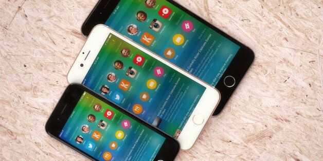 A quick look at what the rumoured iPhone 6s (rose gold) might look like as well as...a smaller size iPhone...