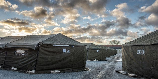 The new migrant reception camp in Vordingborg, 100 km south of Copenhagen, is opened to the media Thursday,...