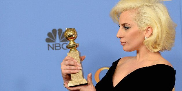 BEVERLY HILLS, CA - JANUARY 10: 73rd ANNUAL GOLDEN GLOBE AWARDS -- Pictured: Singer/actress Lady Gaga,...
