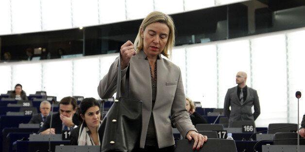 STRASBOURG, FRANCE - NOVEMBER 25: Federica Mogerini, High Representative of the Union for Foreign Affairs...
