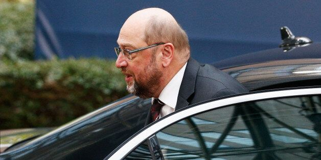 BRUSSELS, BELGIUM - DECEMBER 17: European Parliament President, Martin Schulz arrives for The European...