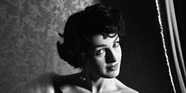 Portrait of Italian actress Silvana Pampanini wearing an elegant dress. 1950s. (Photo by Mondadori Portfolio...