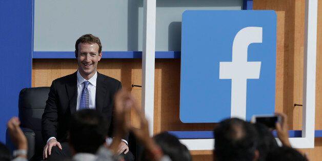 Facebook CEO Mark Zuckerberg speaks at Facebook in Menlo Park, Calif., Sunday, Sept. 27, 2015. A rare...