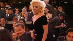 O Leonardo DiCaprio έκανε την πιο αστεία γκριμάτσα για τη Lady Gaga στις Χρυσές