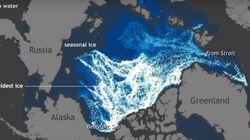 Το 25ετές λιώσιμο των πάγων στην Αρκτική σε ένα βίντεο ενός