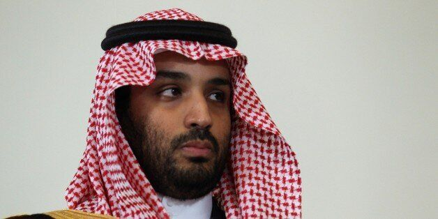 SAINT PETERSBURG, RUSSIA - JUNE 18: Prince Mohammed bin Salman, Saudi Arabia's defence minister attends...