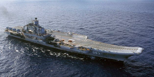 ** FILE ** In this 2004 file photo the Admiral Kuznetsov carrier seen in the Barents Sea, Russia. Russia's...