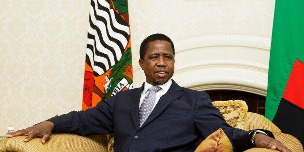 LUSAKA, ZAMBIA - November 20: Edgar Chagwa Lungu, President of Zambia, on November 20, 2015 in Lusaka,...