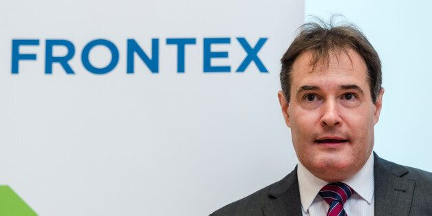 The Executive Director of Frontex Fabrice Leggeri arrives to address the media on the general migratory...