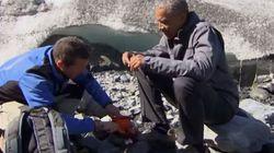 Ο Ομπάμα εξερευνά τη «γη της αρκούδας και του σολομού» με τον Bear
