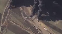 Νέο βίντεο με βομβαρδισμούς βυτιοφόρων από ρωσικά μαχητικά στη