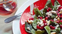Σαλάτα με Σπανάκι, Φέτα και