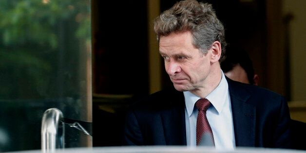 International Monetary Fund (IMF) mission chief Poul Thomsen leaves after a meeting with Greek Finance...