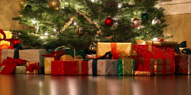 Presents under Christmas tree, surface