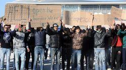 Διαμαρτυρίες Μαροκινών που φιλοξενούνται στο στάδιο του Ταε Κβο