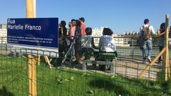 """Jardim Marielle Franco é inaugurado em Paris: """"Minha mãe sempre falava que tínhamos que ser as flores da"""