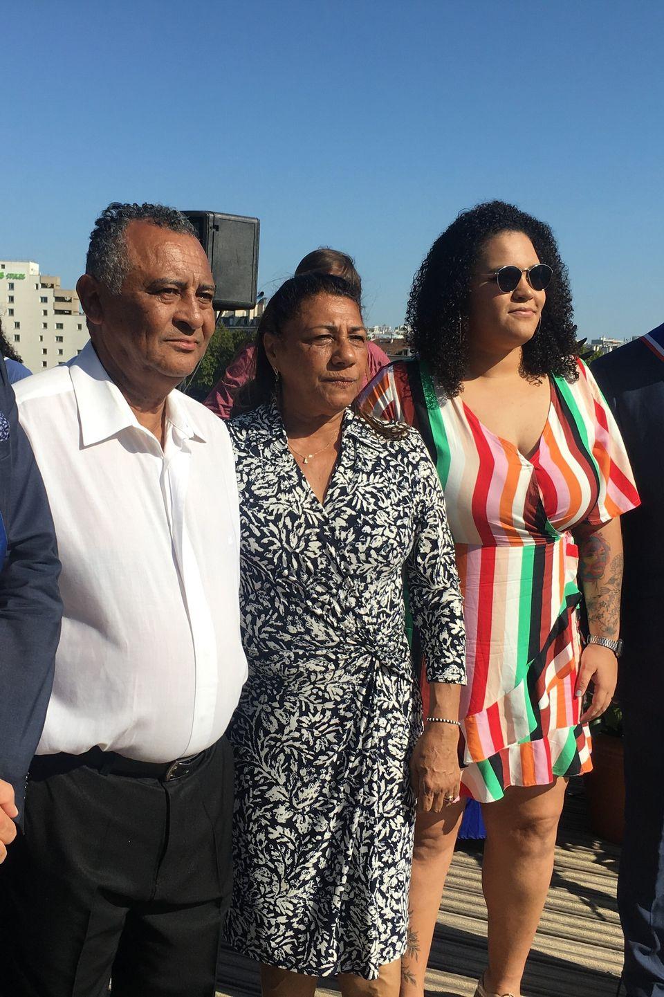 Os pais de Marielle,Antonio da Silva Neto eMarinete Francisco, e a filha da vereadora carioca...